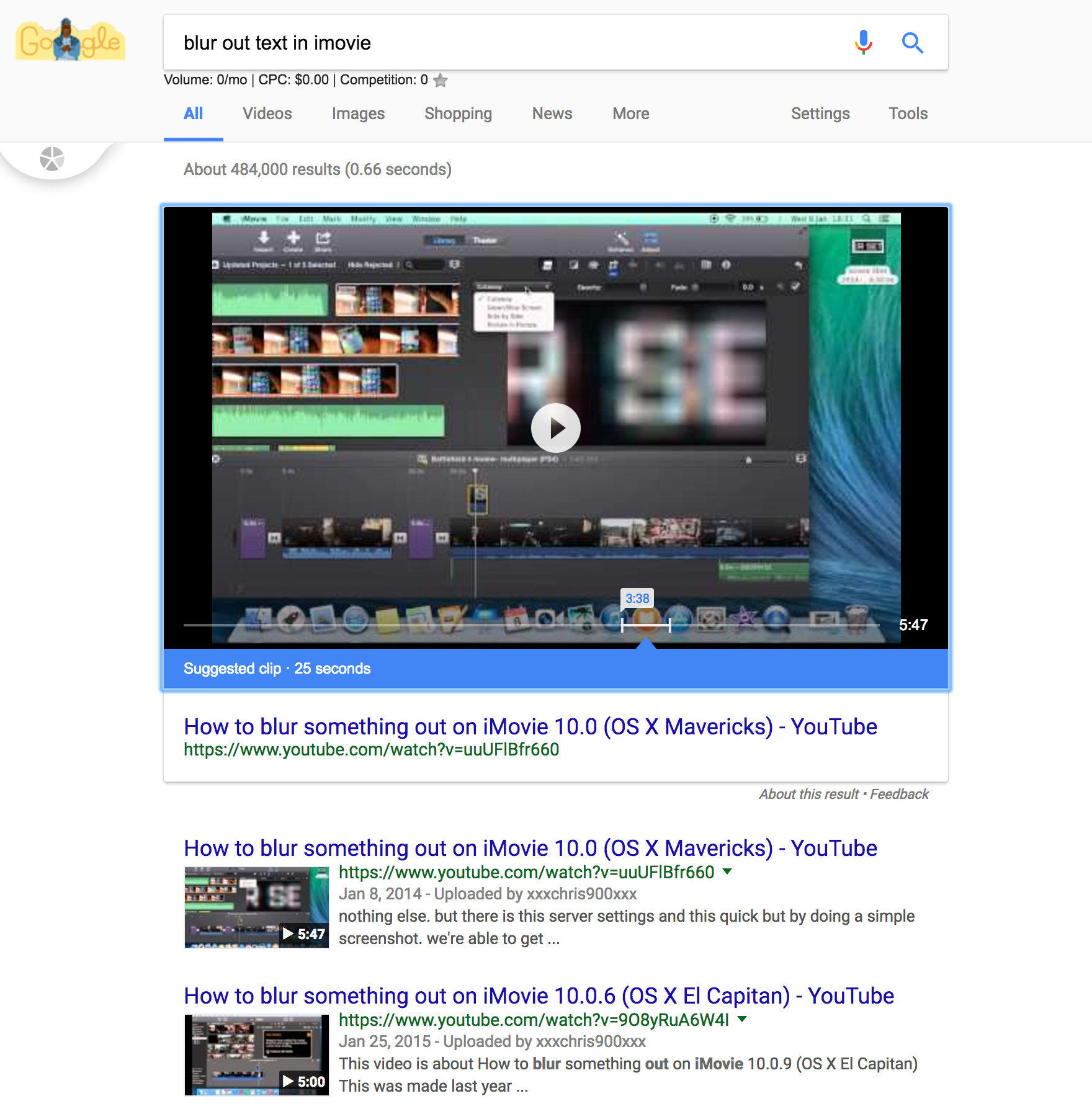 "Google Shows ""Suggested Clip"" Feature in Search Results"