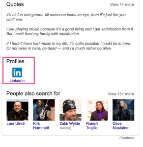 james hetfield knowledge graph