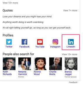 mick jagger google